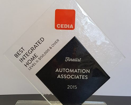 Cedia Best Home Theatre Awards 2015 Finalist Trophy