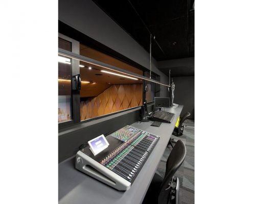 Recording room for students in college