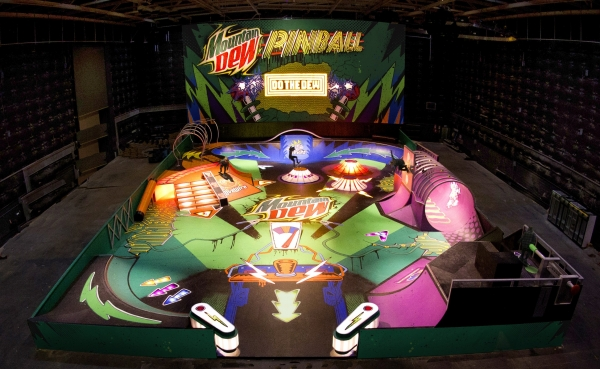 Mountain Dew pinball skate park lighting effects