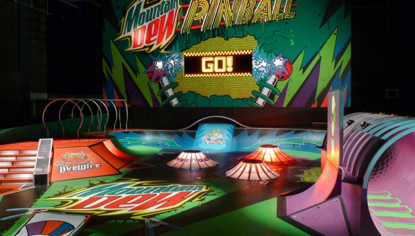 Mountain Dew Pinball themed Skate park