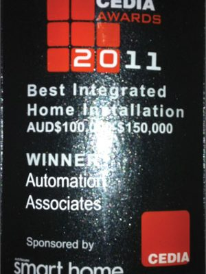 Cedia Best Integrated Home Installation 2011 Winner for AUD$ 100,000-$150,000