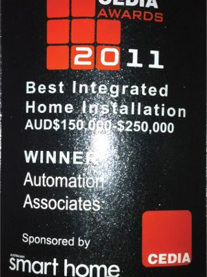 Cedia Best Integrated Home Installation 2011 Winner