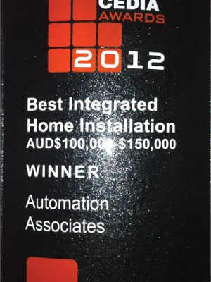 Cedia Best Integrated Home Installation 2012 Winner for AUD$ 100,000-$150,000