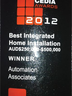 Cedia Best Integrated Home Installation Finalist Awards in 2012