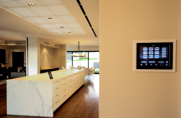 Touchscreen wall mounted kitchen auto control system