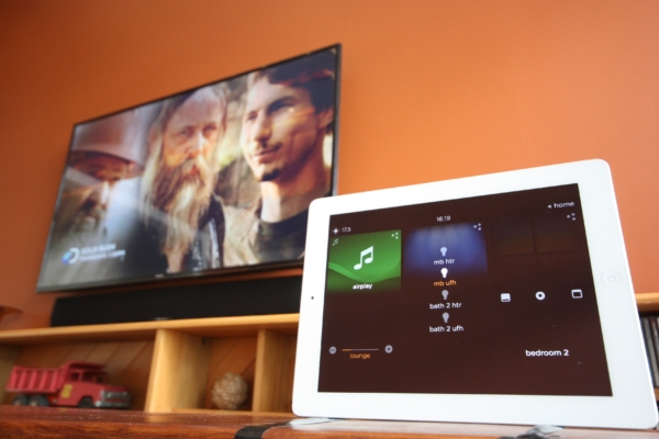 You can control your home theater from your iPad or Tablet touchscreen