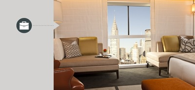 Luxury hotel room with vantage commercial automation