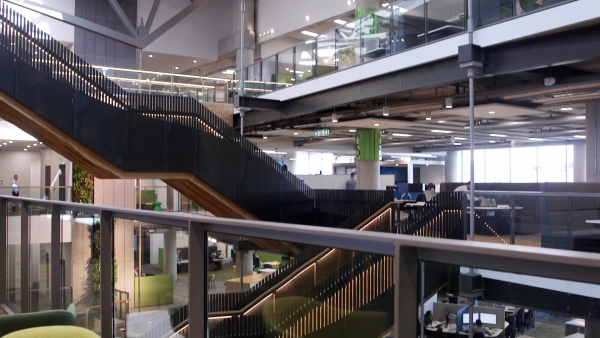 Staircase in the office area