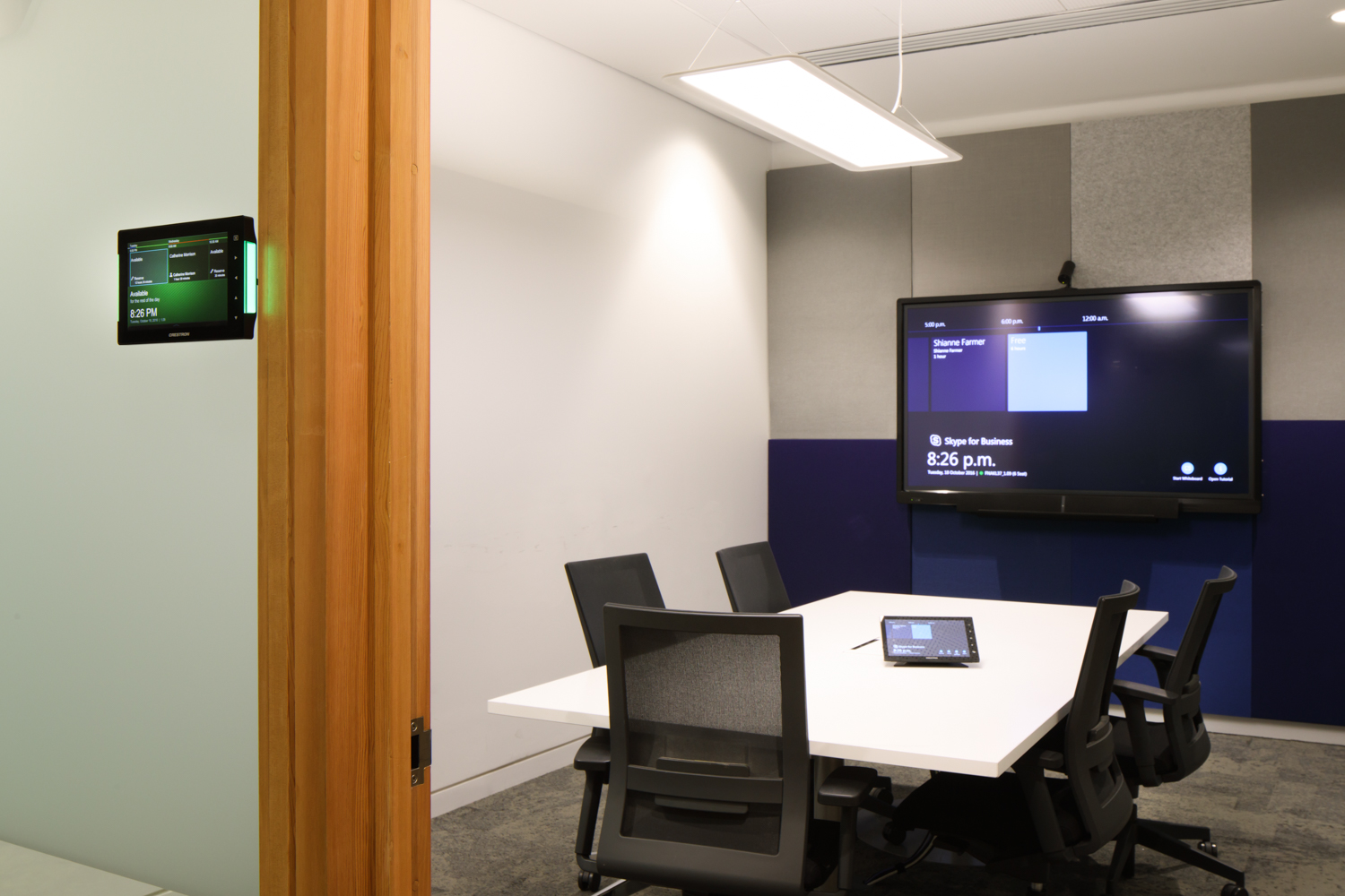 Fonterra Global Headquarters Meeting Room with Crestron control