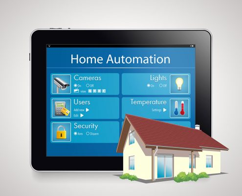 Home automation touchscreen control panel