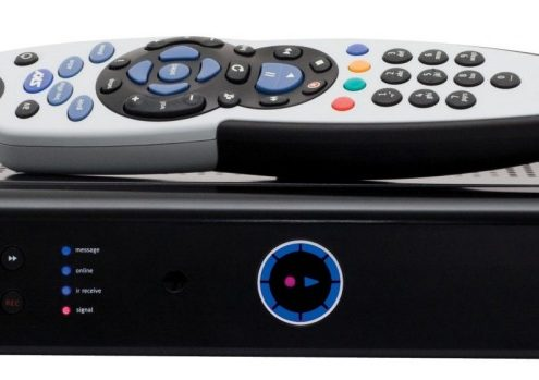 Sky remote control with setup box