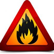 Flammable warning sign