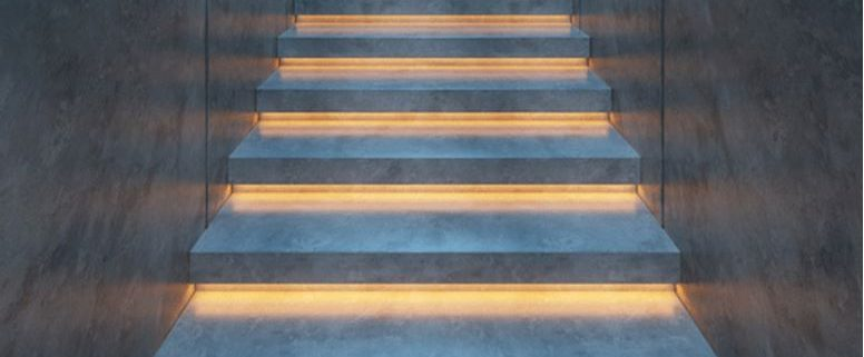 Staircase with beautiful lights
