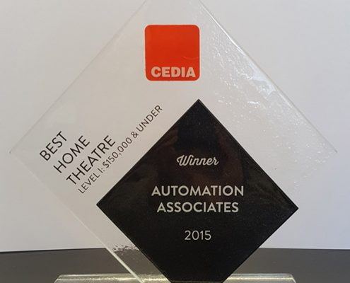 Best Home Theatre Award Winner Trophy by Cedia in 2015