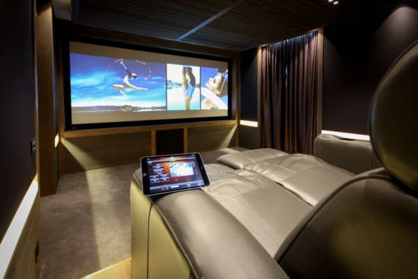 Home theater with a touchpad control