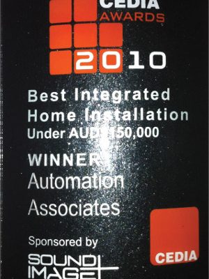 Cedia Best Integrated Home Installation 2010 Winner under AUD $150,000