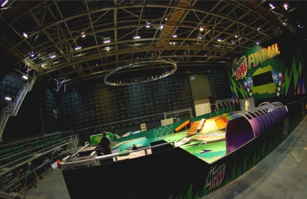 360 degree photo of Mountain Dew pinball skate park