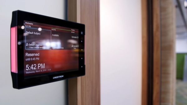 Crestron Touch Panel Room Booking System